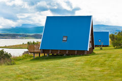 Free Typical Holiday House At North Iceland Royalty Free Stock Photography - 35177977