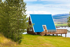 Typical Holiday House at North Iceland Royalty Free Stock Images