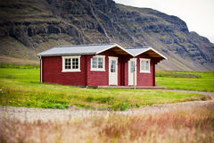 Typical Holiday House at North Iceland Stock Photo
