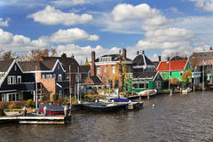 Typical Holland village, Zaanse Schans Stock Photos