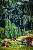 Typical Home of Dolomites - Italian Mountains - Europe Royalty Free Stock Photos