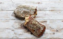 Typical homemade italian Ciabatta bread. Royalty Free Stock Image