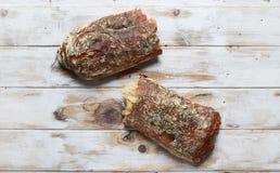 Typical homemade italian Ciabatta bread. Royalty Free Stock Photo