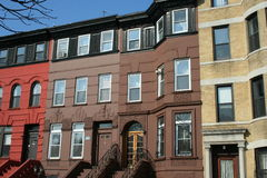 Typical homes in New York. Typical homes of Brooklyn (New York Royalty Free Stock Photos