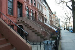 Typical homes in New York. Typical homes of Brooklyn (New York Royalty Free Stock Image