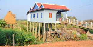 Typical homes on stilts Royalty Free Stock Photo