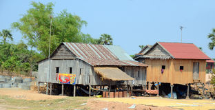 Typical homes on stilts Royalty Free Stock Images