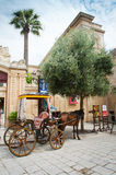 Typical horse cart in medieval town of Mdina Royalty Free Stock Images