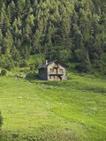 Typical House. In green valley in Andorra Stock Photography