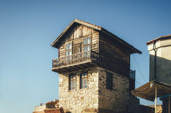 Typical house in ancient town of Nessebar, Bulgaria. Royalty Free Stock Photos