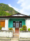 Typical house architecture Soufriere St. Lucia Stock Image