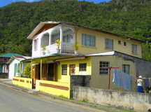 Typical house architecture Soufriere St. Lucia Stock Photos