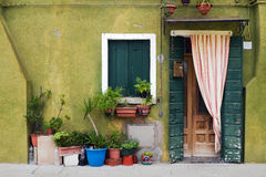 Typical house in Burano. Stock Photography