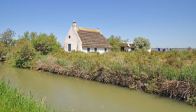 Typical House in the Camargue,France Royalty Free Stock Photo