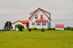 Typical house in Campobello Island (Canada) Royalty Free Stock Photo