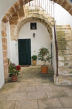 Typical house. Corigliano d'Otranto. Puglia. Italy. Stock Photos