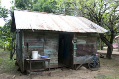 Typical house corn island nicaragua Stock Photo