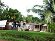 Typical house corn island nicaragua Royalty Free Stock Images
