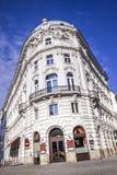 Typical house corner in Vienna Austria Stock Photo