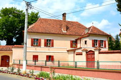 Typical house in Cristian, Transylvania. Cristian (Neustadt im Burzenland German) is a village in the county of Brasov, Transylvania, Romania Royalty Free Stock Photos