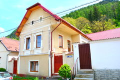Typical House in the cvartal Schei of Brasov Stock Photo