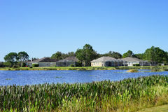 A typical house in Florida. A Florida house and lake, taken in Tampa Stock Images