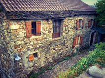 Typical house in a French Ardeche village Royalty Free Stock Photo