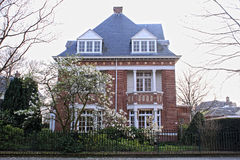 Typical house in Hague Royalty Free Stock Photos