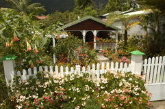 Typical house at Hell Bourg on Reunion island. France Stock Image