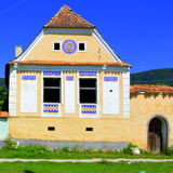 Typical House In The Village Crit, In The Area Of The Fortified Medieval Church In The Village Ungra, Transylvania. Stock Image