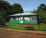 Typical house with laundy drying South End, Big Corn Island, Ni Royalty Free Stock Photography