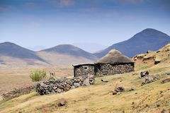 Typical house in Lesotho stock photos