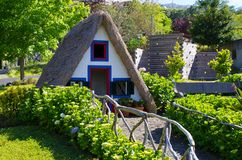 Typical house of Madeira Island stock images