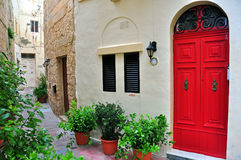 Typical house in Malta. Typical house and patio in Malta Stock Photos