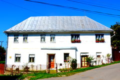 Typical house in minning village Rosia Montana, Apuseni Mountains. Rosia Montana is a commune of Alba County in the Apuseni Mountains of western Transylvania Stock Image