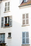 Typical house on Montmartre stock images