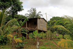 Typical house in the nicaraguan jungle, Nicaragua. Central America Stock Photos