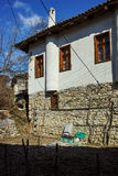 Typical house from nineteenth century village of Rozhen, Bulgaria Stock Images