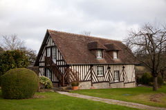 Typical house in the Normandy, France Stock Images