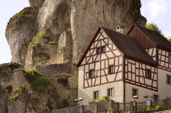 Typical house in North Bavaria, Germany Royalty Free Stock Photo