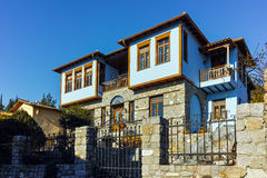 Typical house from ottoman period in Xanthi, East Macedonia and Thrace Stock Photos