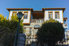 Typical house from ottoman period in Xanthi, East Macedonia and Thrace Royalty Free Stock Images