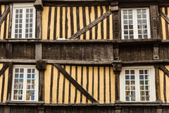 Typical House Rennes, French Stock Image