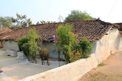 A typical house in a rural place in India Stock Photos