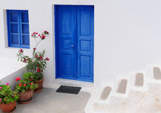 Typical house at Santorini Greece , cyclades Royalty Free Stock Images