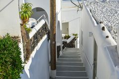 Typical house on Santorini Island royalty free stock images