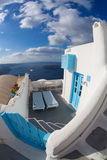 typical house on Santorini island in Greece Stock Photography