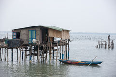 Typical House on the sea Lang Co, Hue, Vietnam Stock Photo