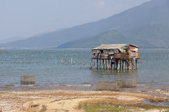 Typical House on the sea Lang Co, Hue, Vietnam Stock Photography