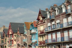 Typical house in Somme, France Royalty Free Stock Image